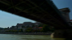 Hyper lapse of the Royal Palace in Budapest. Buda Castle. Stock Footage