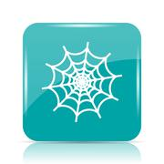 Spider web icon. Internet button on white background.. Stock Illustration