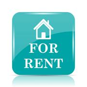 For rent icon. Internet button on white background.. Stock Illustration