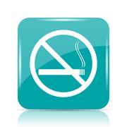 No smoking icon. Internet button on white background.. Stock Illustration
