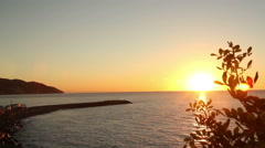 Sunset in Diano Marina Italy Stock Footage