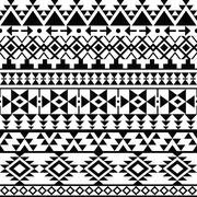 Seamless black Navajo print, Aztec pattern, Tribal design Stock Illustration