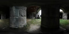 Haunted Ruins with Zombies 360 Video Stock Footage