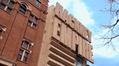 Hackney Empire in east London panning right Stock Footage