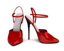 High heels concept  3d illustration Stock Illustration