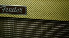 Amplificador fender closeup Stock Footage