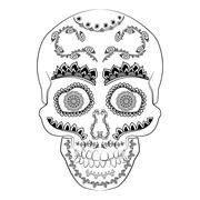 Day of the dead sugar skull vector. Mexican skull. Dia de los muertos skull Stock Illustration