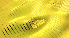 Yellow Waves from stripes Stock Footage