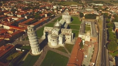Aerial view of Miracles Square with warm tone Stock Footage