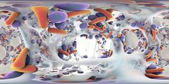 Biofilm of antibiotic-resistant bacteria Stock Illustration