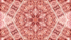 Kaleidoscope natural light effect, abstract texture, vj loop, star red. Stock Footage
