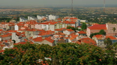 Overview of the Palmela Village from the Castle in Setubal, Portugal Stock Footage