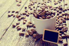 Whole coffee beans Stock Photos