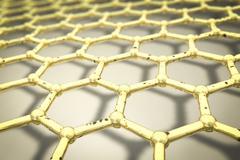 Nanogrid, nanoparticles, 3D illustration Stock Illustration