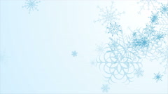 Abstract blue falling snowflakes video animation Stock Footage