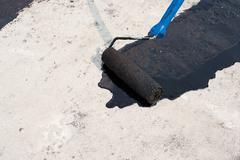 Priming concrete screed Stock Photos