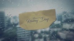 Memory of Rainy Day Stock After Effects