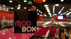 Modbox sign in clothing store Stock Footage