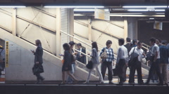 Trains departing from Ochanomizu Station in Tokyo, Japan Stock Footage