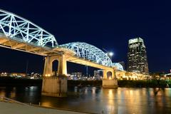 Shelby Bridge in Downtown Nashville Stock Photos