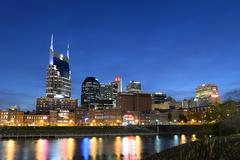 City of Nashville in Early Evening Stock Photos