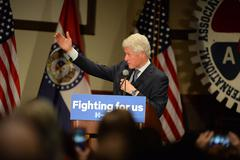 Former President Bill Clinton Speaks at Hillary Rally Stock Photos