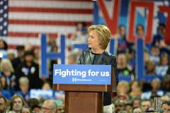 Hillary Clinton Campaigns in St. Louis, Missouri, USA Stock Photos