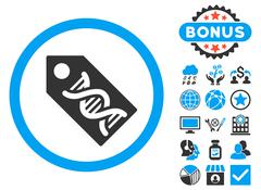 DNA Marker Flat Vector Icon with Bonus Stock Illustration