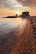 Ierissos-Kakoudia beach, Greece Stock Photos