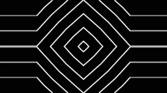 Vj Loop Animated Center Club Visual Black and White Stock Footage