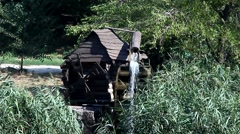 Old water mill in the countryside Stock Footage