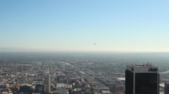 Blimp Over City Stock Footage