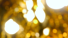 Included crystal chandelier, gold, blur Stock Footage