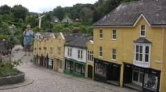 Miniature Houses and Street in a Model Village Stock Footage