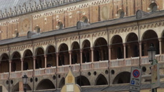 The Palazzo della Ragione is old town hall in Padua Stock Footage