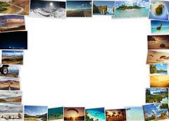 Frame made of photos. Collage concept Stock Photos