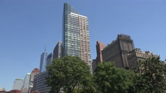 The Ritz-Carlton Residences from Battery Park, Manhattan, New York. Stock Footage
