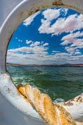Mooring Line Lake Powell Ferry Stock Photos