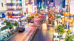 Night traffic time-lapse in Tokyo Stock Footage