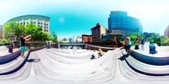 NYC Highline 360VR Stock Footage