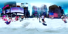 Timesquare 360VR Stock Footage