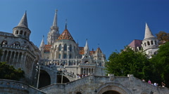 Budapest, Hungary. Circa . Time lapse of visitors in the Stock Footage