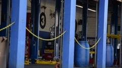 Auto Mechanic Bays, Empty Stock Footage