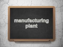 Manufacuring concept: Manufacturing Plant on chalkboard background Piirros