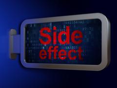 Medicine concept: Side Effect on billboard background Stock Illustration