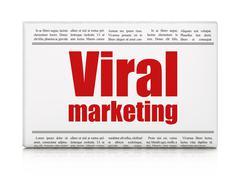 Marketing concept: newspaper headline Viral Marketing Stock Illustration