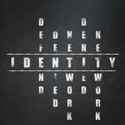 Privacy concept: Identity in Crossword Puzzle Stock Illustration
