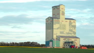 Old school grain elevator Stock Footage