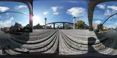 Virtual Reality 360 view from the town Hindeloopen Stock Footage