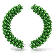 Green balloons arc laure Stock Illustration